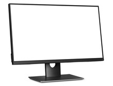 Computer Monitor With White Bl...