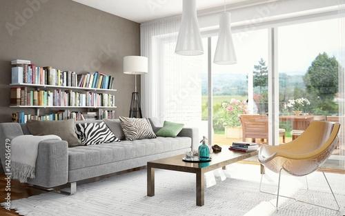 Wohnzimmer – kaufen Sie diese Illustration und finden Sie ähnliche ...
