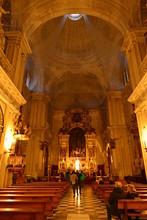 Innenraum Der Kirche Kathedrale Sevilla / Parroquia Del Sagrario