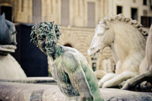 Bronze Statue Of A Satyr,Neptune Fountain Detail