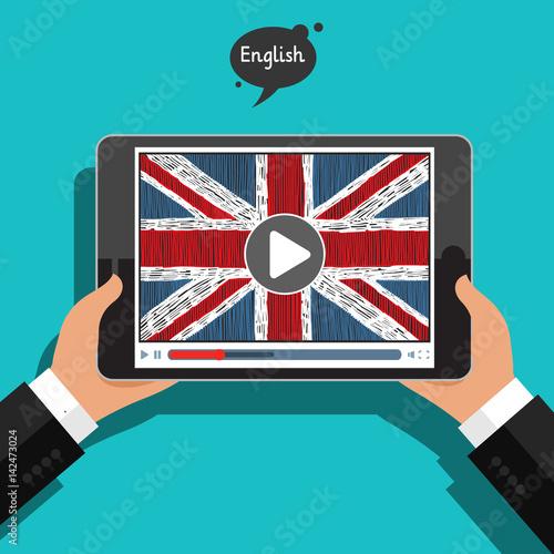 Fototapeta  Concept of learning languages. Study English.