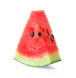 canvas print picture - Sliced of watermelon isolated on white background