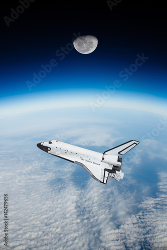 Space shuttle in space ( NASA image not used )
