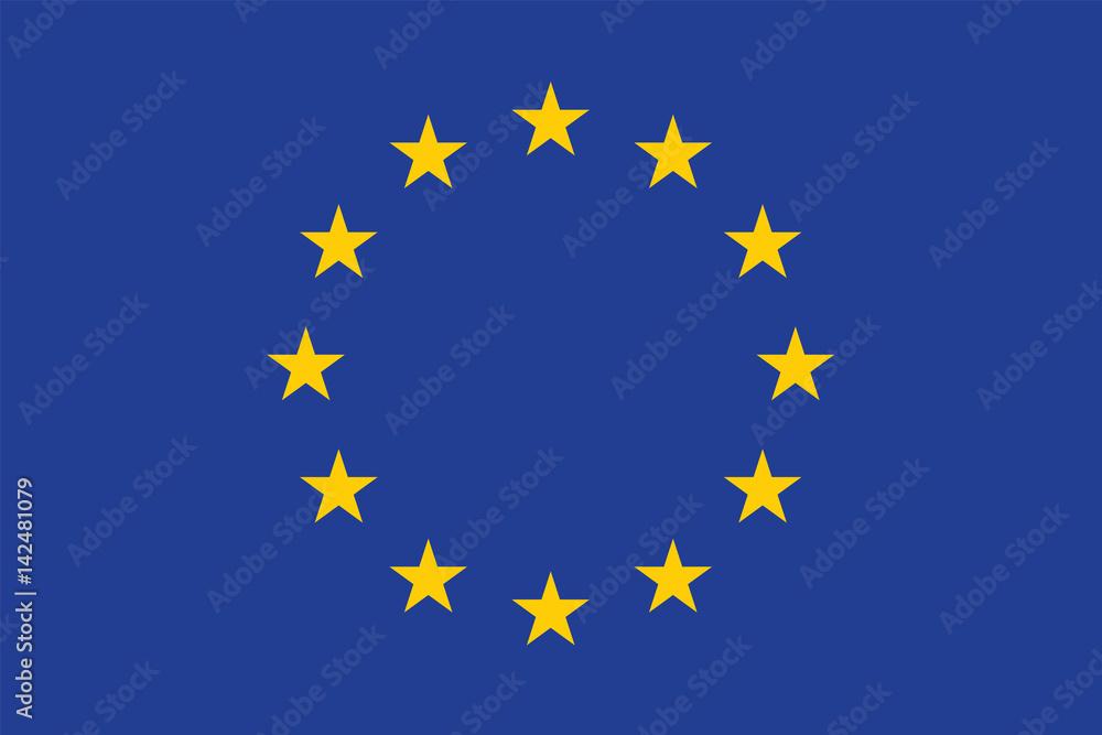 Fototapeta Vector of amazing European Union flag.