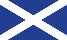 Vector Of Amazing Scottish Flag.