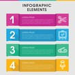 Clip infographic design with elements.