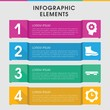 Industrial infographic design with elements.