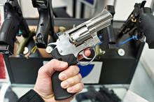 Revolver Dan Wesson In Hand Of...