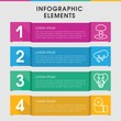 Big infographic design with elements.