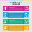 Mammal infographic design with elements.