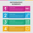 Group infographic design with elements.