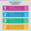 Fluorescent infographic design with elements.