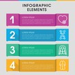 Linear infographic design with elements.