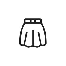 Skirt Vector Icon, Woman Clothes Symbol. Modern, Simple Flat Vector Illustration For Web Site Or Mobile App