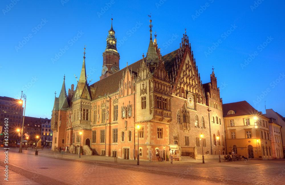 Fototapety, obrazy: Wrocław ratusz