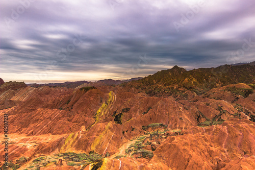Deurstickers Oranje eclat Zhangye, China - August 03, 2014: Rainbow Mountains of the Danxia Landform in Zhangye, China