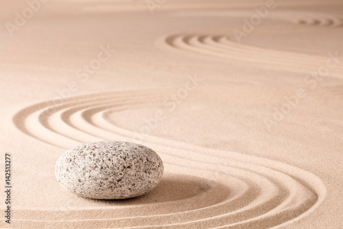 Deurstickers Stenen in het Zand spiritual meditation zen garden, a concept for relaxation concentration harmony balance and simplicity. Holistic tao buddhism or spa wellness treatment..