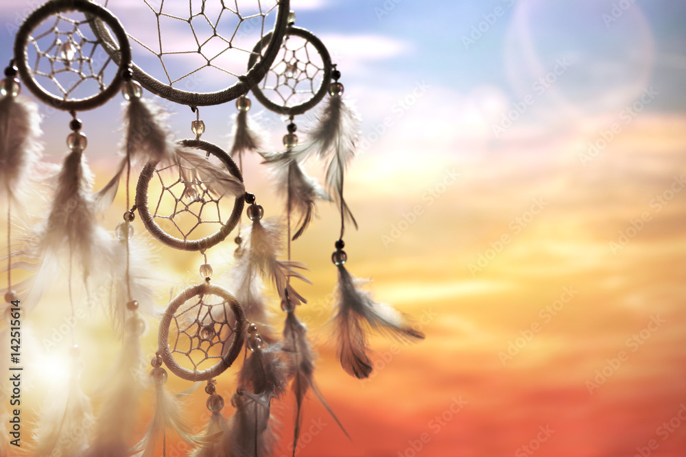 Fototapeta Dream catcher at sunset