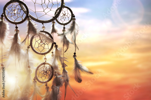 Fotografia  Dream catcher at sunset