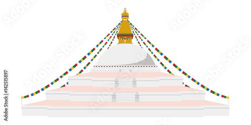 Stampa su Tela Boudhanath Stupa, Kathmandu, Nepal