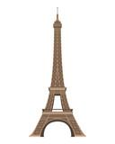 Fototapeta Fototapety z wieżą Eiffla - Eiffel Tower, Paris, France. Isolated on white background vector illustration.