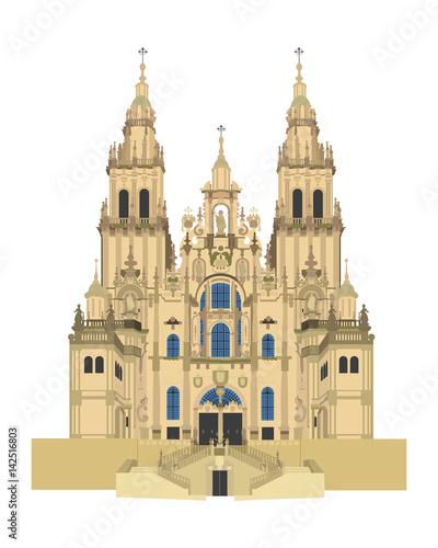 Santiago de Compostela Cathedral, Spain Canvas Print