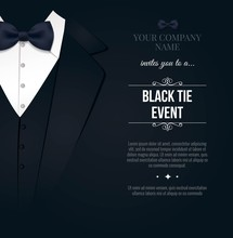 Black Tie Event Invitation. El...