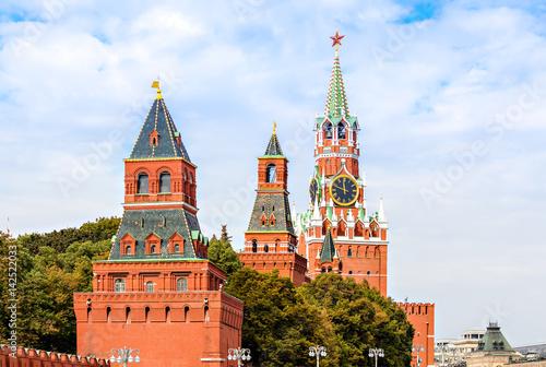 In de dag Aziatische Plekken Kremlin wall towers
