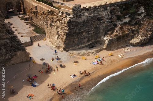 city beach in Melilla, Spanish province in Morocco