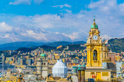 Foto op Canvas Milan aerial view of the italian city genoa