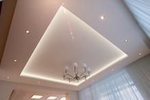 White Ceiling Illuminated With LED
