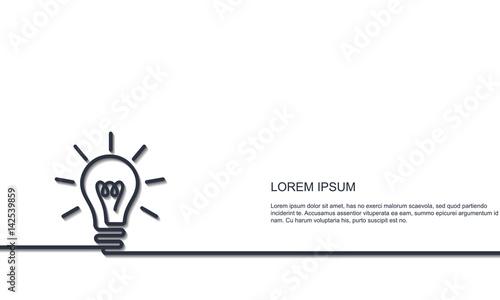 Obraz Bright Idea concept - fototapety do salonu