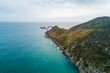 Aerial view of Nugget Point Lighthouse, Otago, New Zealand