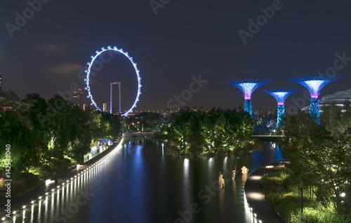 Photo  Singapore beautiful cityview from OCBC Skyway