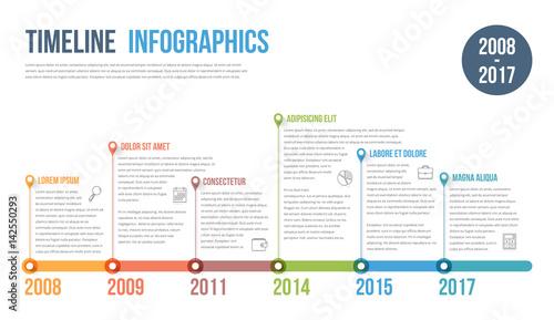 Foto  Timeline Infographics
