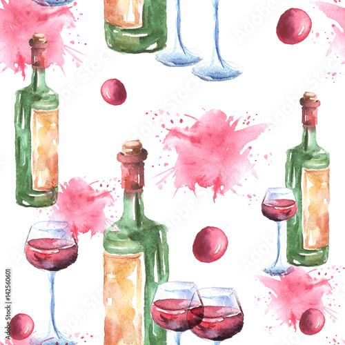 butelki-wina-kieliszek-do-wina-kieliszek-czerwonego-wina-jagody