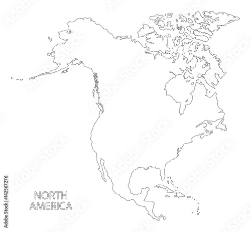 North America outline silhouette map illustration – kaufen ...