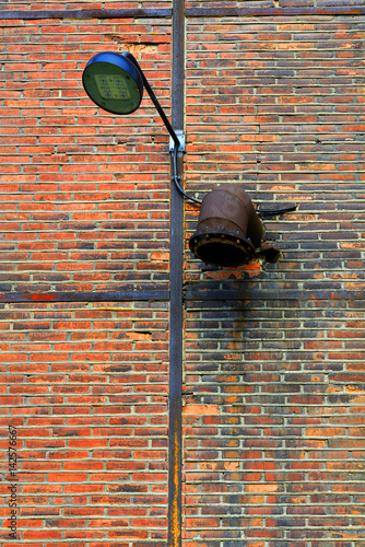 Staande foto Industrial geb. Ostrava - detail of industrial architecture