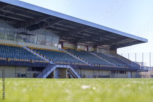 Staande foto Stadion Soccer stadium tribune