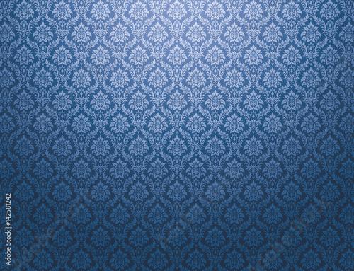 niebieskie-tlo-wzor-adamaszku