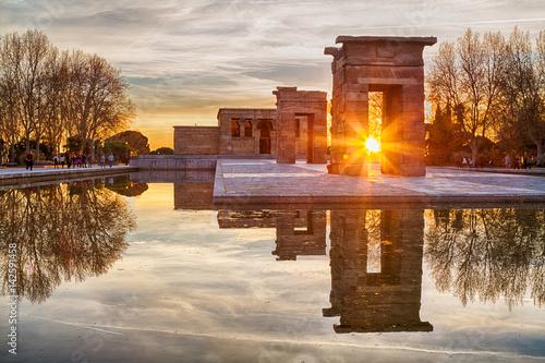 Photo Templo de Debod Madrid España Atardecer
