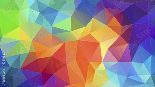 Flat triangle multicolor geometric triangle wallpaper