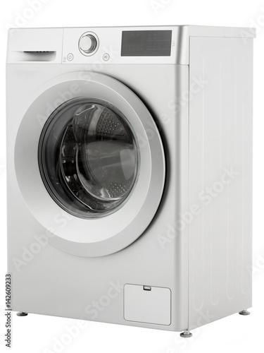 Fotografie, Obraz  The washing machine on a white background