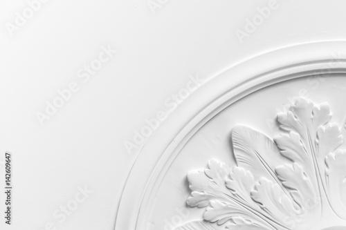 Fototapeta Round decorative clay stucco relief molding obraz