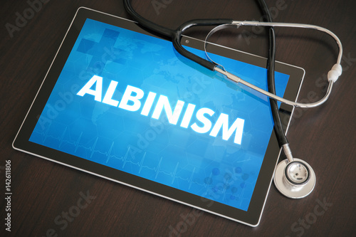 Tablou Canvas Albinism (genetic disorder) diagnosis medical concept on tablet screen with stet