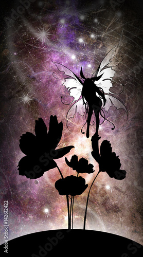 Curiosity my second name - anime fairy silhouette art photo manipulation Canvas Print