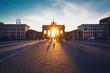 Brandenburg Gate in sunset light
