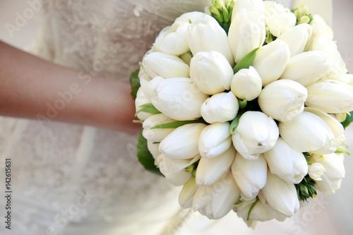 Tulipani Bouquet Sposa.Tulipani Bianchi Che Formano Un Bouquet Da Sposa Buy This Stock