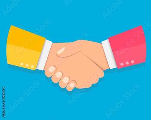 Pinturas sobre lienzo  Shake hands, agreement, partnership concepts