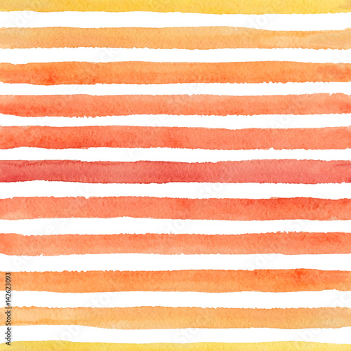 Cotton fabric Hand drawn seamless watercolor pattern with colorful strokes on the white background